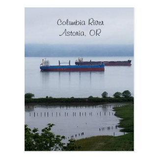 The Columbia River in Astoria Oregon Postcard