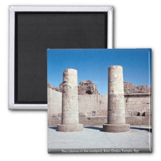 The columns in the courtyard Kom Ombo Temple Egy Fridge Magnets