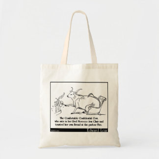 The Comfortable Confidential Cow Tote Bags