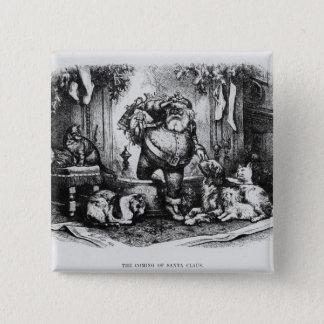 The Coming of Santa Claus, 1872 15 Cm Square Badge
