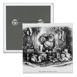 The Coming of Santa Claus, 1872 15 Cm Square Badge