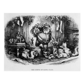 The Coming of Santa Claus, 1872 Postcard