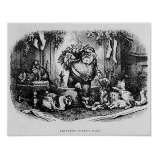 The Coming of Santa Claus, 1872 Poster