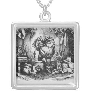The Coming of Santa Claus, 1872 Silver Plated Necklace