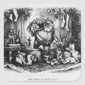 The Coming of Santa Claus, 1872 Square Sticker