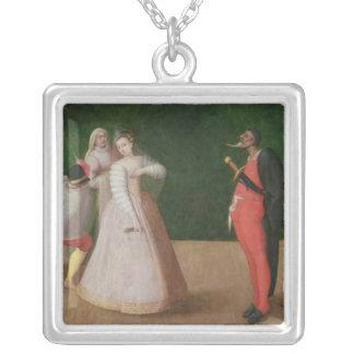 The Commedia dell'Arte Company Square Pendant Necklace