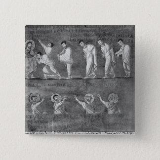 The communion of six apostles 15 cm square badge