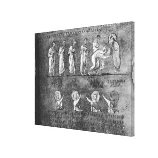 The communion of six apostles stretched canvas prints