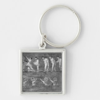 The communion of six apostles key ring