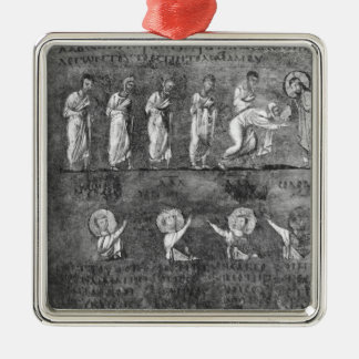 The communion of six apostles Silver-Colored square decoration