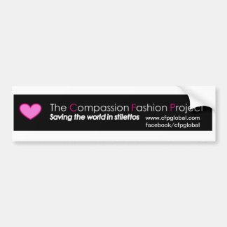 The Compassion Fashion Project Bumper Sticker! Car Bumper Sticker