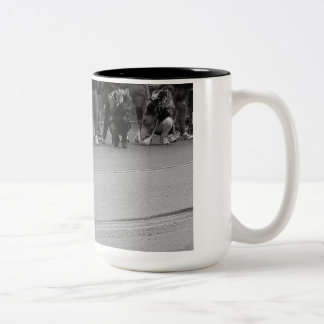 The Competition Begins Two-Tone Mug