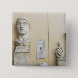 The components of a giant statue of Emperor 2 15 Cm Square Badge