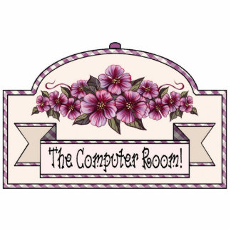 """The Computer Room"" - Decorative Sign - 20 Photo Sculpture Decoration"