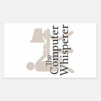 The Computer Whisperer Rectangular Sticker