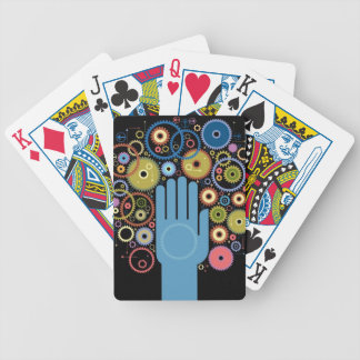The concept of motion bicycle playing cards