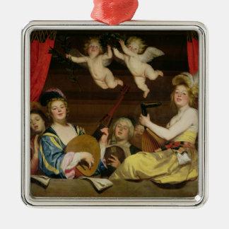 The Concert, 1624 Silver-Colored Square Decoration