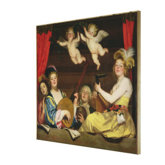 The Concert, 1624 Stretched Canvas Print