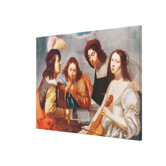 The Concert 2 Stretched Canvas Print