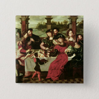 The Concert after the Meal 15 Cm Square Badge