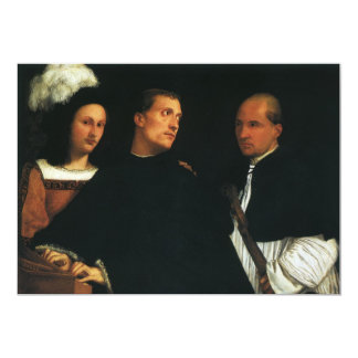 The Concert by Titian Vintage Renaissance Fine Art 13 Cm X 18 Cm Invitation Card