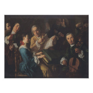 The Concert, c.1755 Poster