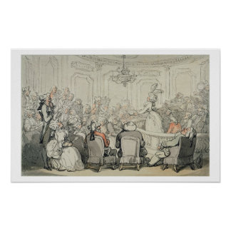 The Concert, from 'Scenes at Bath', c.1795-1800 (w Poster