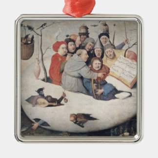 The Concert in the Egg Silver-Colored Square Decoration
