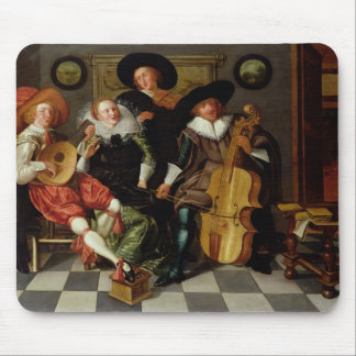 The Concert (oil on panel) Mouse Mat