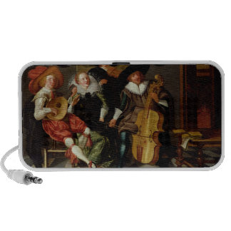 The Concert (oil on panel) Laptop Speakers