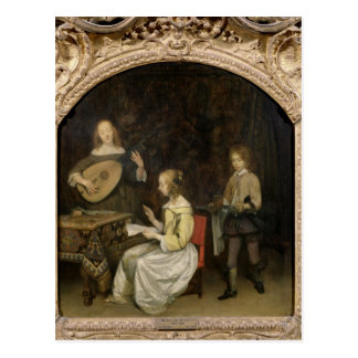 The Concert: Singer and Theorbo Player Postcard