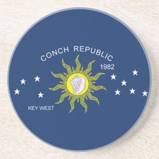 The Conch Republic Flag Coaster