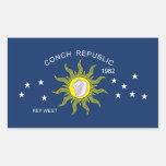The Conch Republic Flag Rectangular Sticker