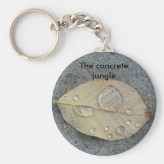 the concrete jungle basic round button key ring