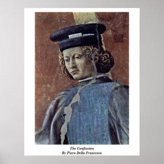 The Confession By Piero Della Francesca Posters