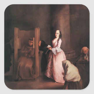 The Confession by Pietro Longhi Stickers