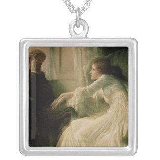 The Confession Square Pendant Necklace