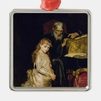 The Confession Silver-Colored Square Decoration