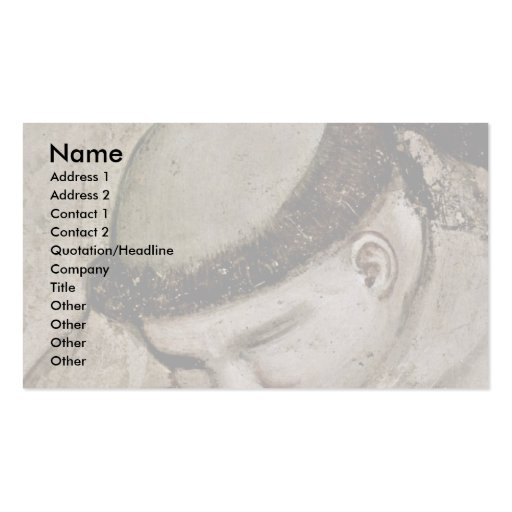 The Confirmation Of The Wounds Of Christ Detail Business Cards
