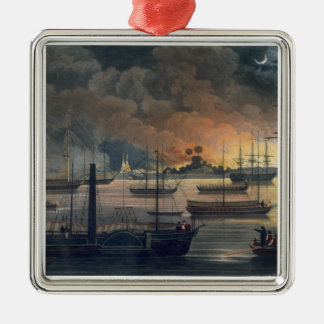 The Conflagration of Dalla on the Rangoon River, p Christmas Ornament
