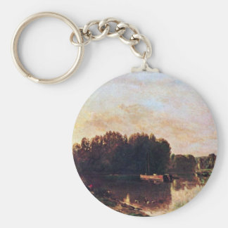 The Confluence Of The Seine And Oise Key Chains