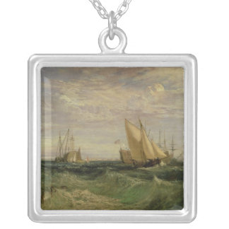 The Confluence of the Thames and the Medway Square Pendant Necklace