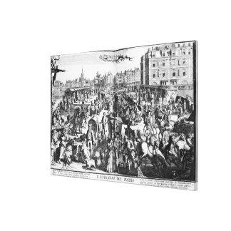The Congestion in Paris Canvas Print
