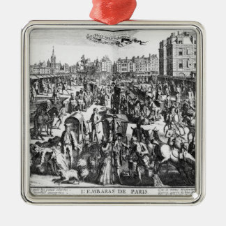 The Congestion in Paris Silver-Colored Square Decoration