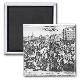 The Congestion in Paris Square Magnet
