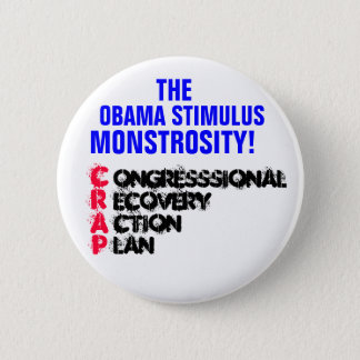 The Congressional Recovery Action Plan!! 6 Cm Round Badge