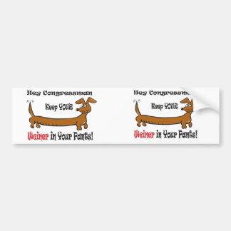 The Congressmans Weiner Bumper Sticker