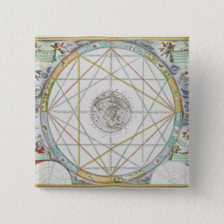 The Conjunction of the Planets 15 Cm Square Badge
