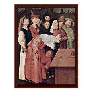 The Conjurer Detail. By Hieronymus Bosch Postcard
