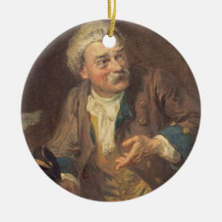 The Conjuror (oil on canvas) (pair of 124492) Round Ceramic Decoration
